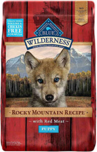 Blue wilderness puppy rocky mountain recipe with red meat dry dog food